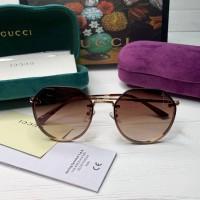 Жіночі круглі сонцезахисні окуляри GG (3322) brown