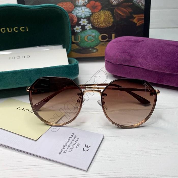 Женские круглые солнцезащитные очки GG (3322) brown