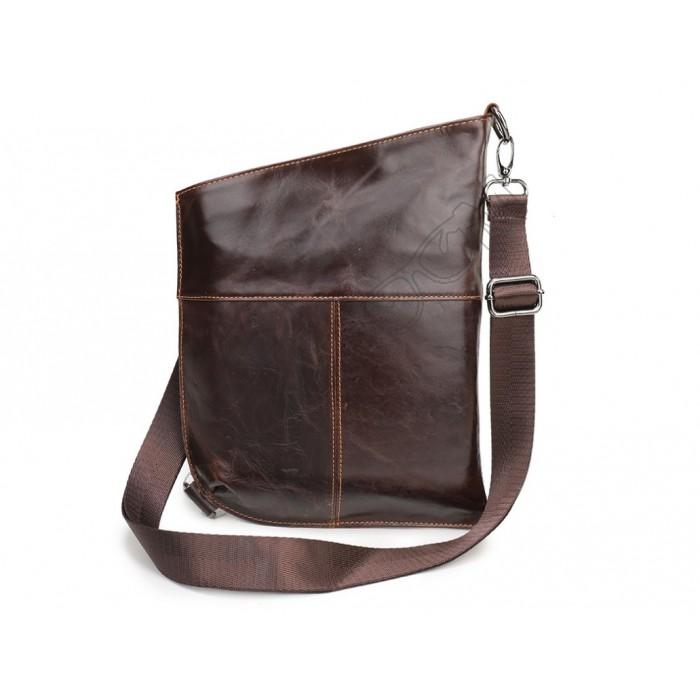 Мужская кожаная сумка Wild Leather (350) коричневая