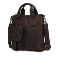 Мужская кожаная сумка Wild Leather (351) коричневая