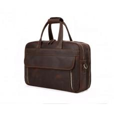 Сумка мужская стильная Wild Leather (351) кожаная коричневая
