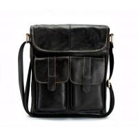 Вместительная мужская сумка Leather Collection (368) кожаная черная