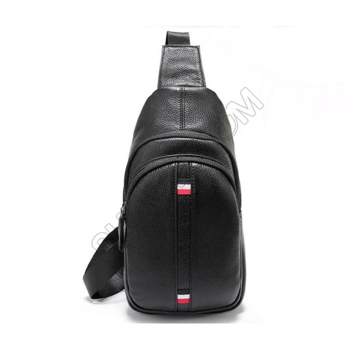 Мужская сумка на грудь (слинг) Leather Collection (370)