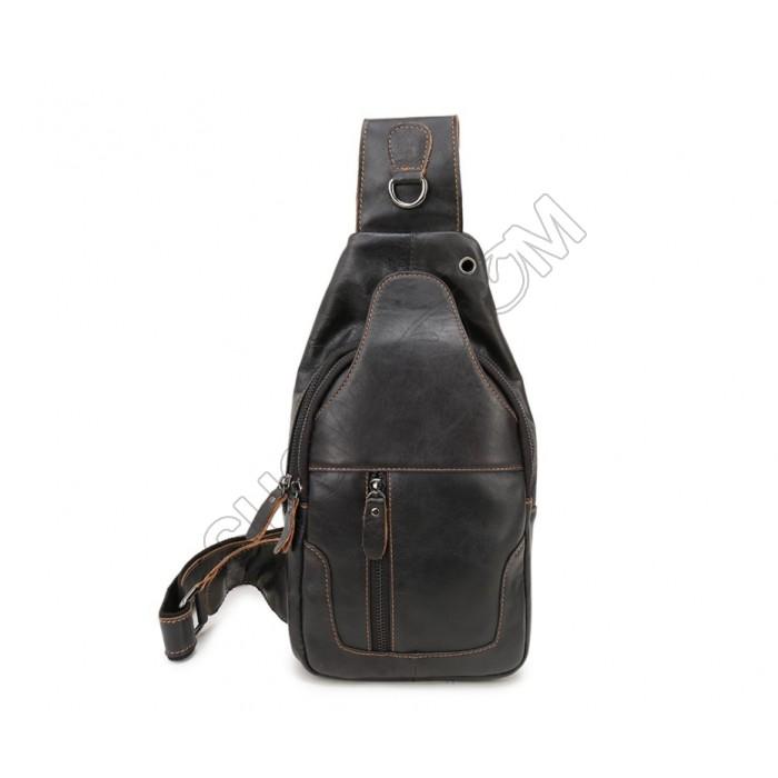 Мужская сумка на грудь (слинг) Leather Collection (371)