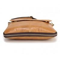 Мужская кожаная сумка планшетка Leather Collection (372) brown