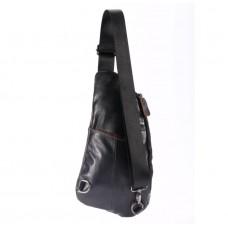 Мужская сумка на грудь (слинг), бананка Leather Collection (374)