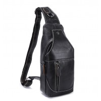 Мужская сумка на грудь (слинг) Leather Collection (376)