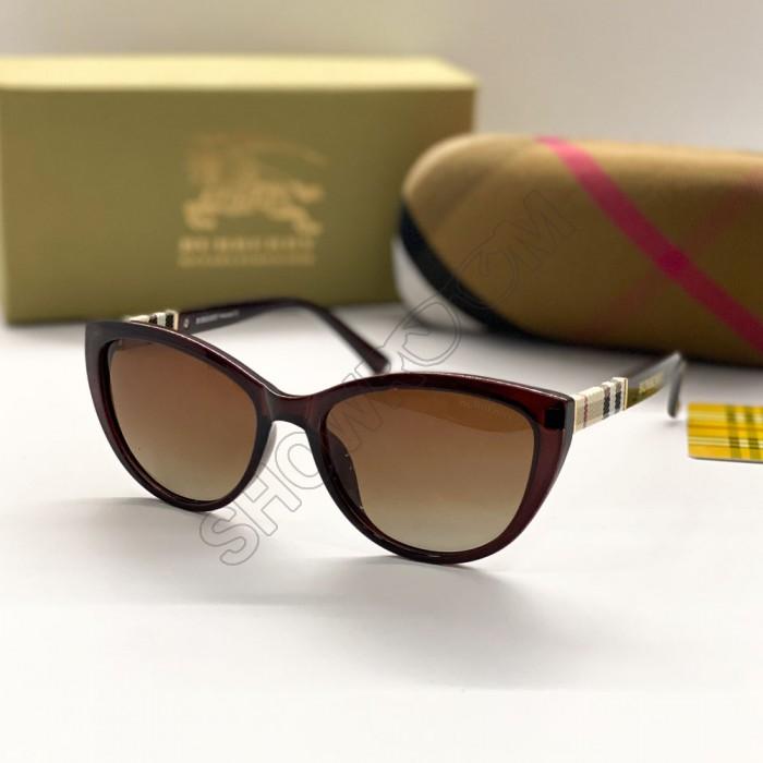 Женские брендовые солнечные очки (3760) brown polaroid