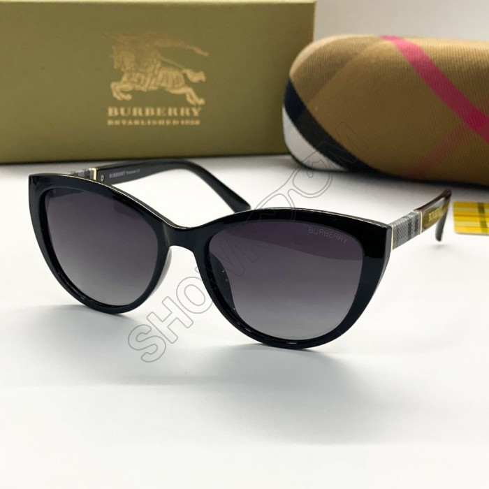 Женские брендовые солнечные очки (3760) black polaroid