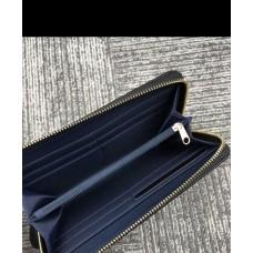 Мужской брендовый кожаный кошелек на молнии (38450) black