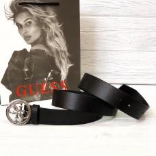 Женский кожаный ремень Guess (4001) silver