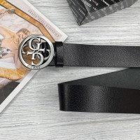 Женский кожаный ремень Guess (4001) grey