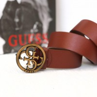 Женский кожаный ремень Guess (4001) light brown