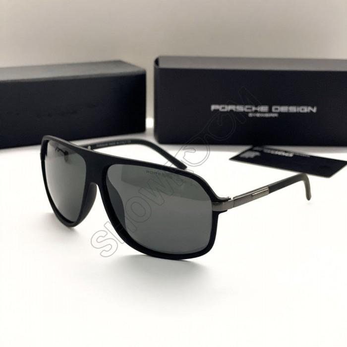 Мужские солнечные очки с поляризацией Porsche Design (4012) black