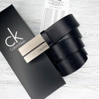 Мужской классический кожаный ремень (402) черный