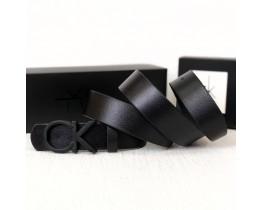 Чоловічий шкіряний ремінь (408) black