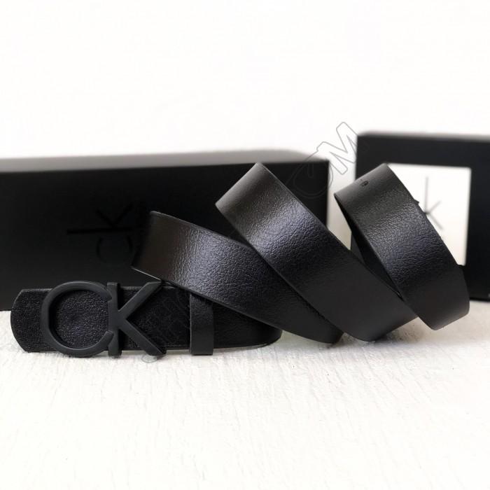 Мужской кожаный ремень (408) black