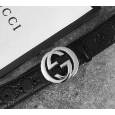 Мужской кожаный ремень GG (414516), подарочный набор