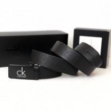 Мужской классический кожаный ремень (416) черный