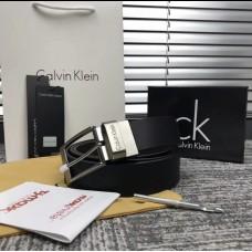 Мужской кожаный ремень в подарочной упаковке (427), подарочный набор