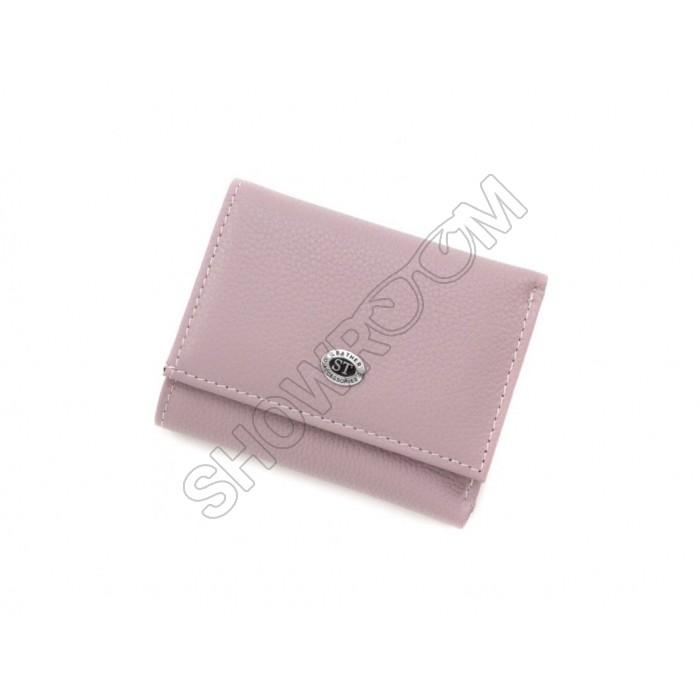Недорогой женский кожаный кошелек (4401) светло-фиолетовый