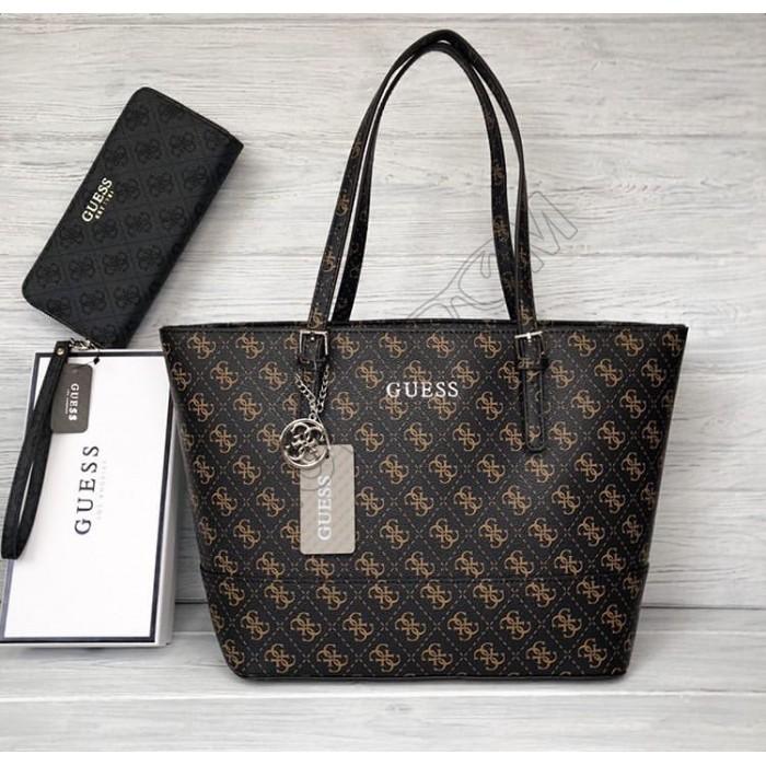 Женская сумка Guess (4424) brown