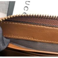 Женский кожаный кошелек на молнии (443123) brown