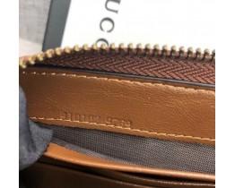 Жіночий шкіряний гаманець на блискавці (443123) brown