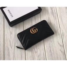 Женский кожаный кошелек на молнии (443123) black