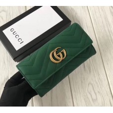 Женский кожаный кошелек GG (443436) зеленый