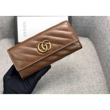 Жіночий шкіряний гаманець GG (443436) коричневий