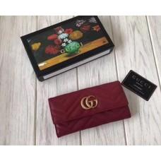 Женский кожаный кошелек GG (443436) бордовый