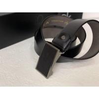 Мужской кожаный ремень пряжка - затяжка (452)