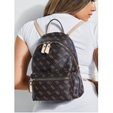 Жіночий брендовий рюкзак Guess (4557) brown