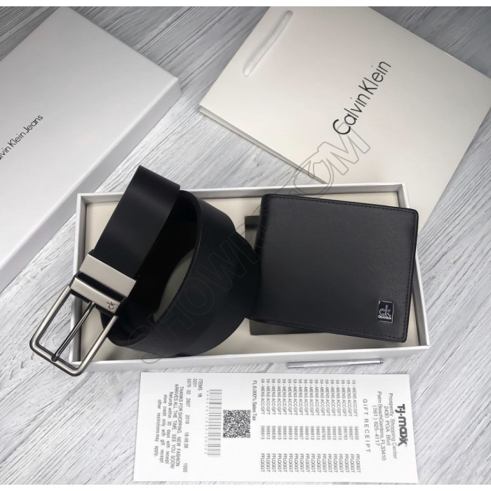 Мужской подарочный набор ремень и портмоне (461), подарочный набор