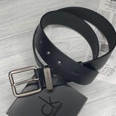Чоловічий шкіряний брендовий ремінь (465) чорний