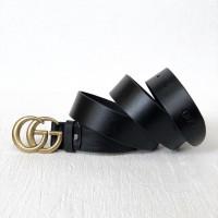 Женский модный кожаный ремень GG (5002) gold