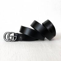 Женский модный кожаный ремень GG (5002) grey