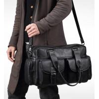 Мужская дорожная кожаная сумка, тревелбег Leather Collection (5027)