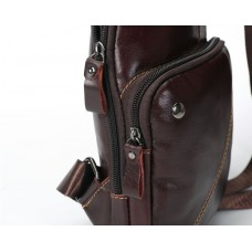 Мужская сумка на грудь (слинг) Leather Collection (5032)