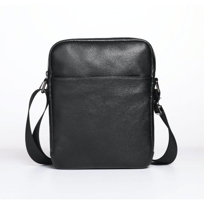 Мужская сумка на плечо Leather Collection (5034) кожаная черная