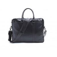 Мужская горизонтальная сумка на плечо для ноутбука Leahter Collection (5035)