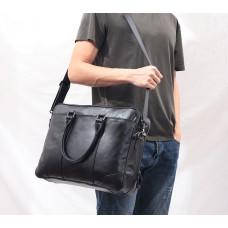 Чоловіча горизонтальна сумка на плече для ноутбука Leahter Collection (5035)