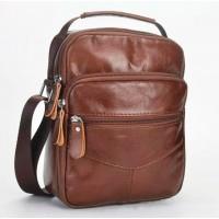 Мужская сумка через плечо Leather Collection (5037) кожаная черная