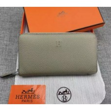 Женский брендовый кожаный кошелек H (506) taupe