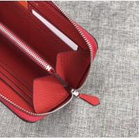 Женский брендовый кожаный кошелек H (506) red