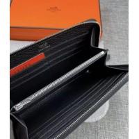 Женский брендовый кожаный кошелек H (506) black