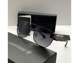Сонцезахисні чоловічі окуляри Chrome Hearts 5078 black