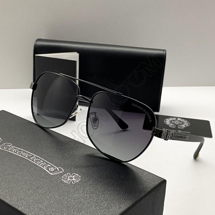 Солнцезащитные мужские очки Chrome Hearts 5078 black