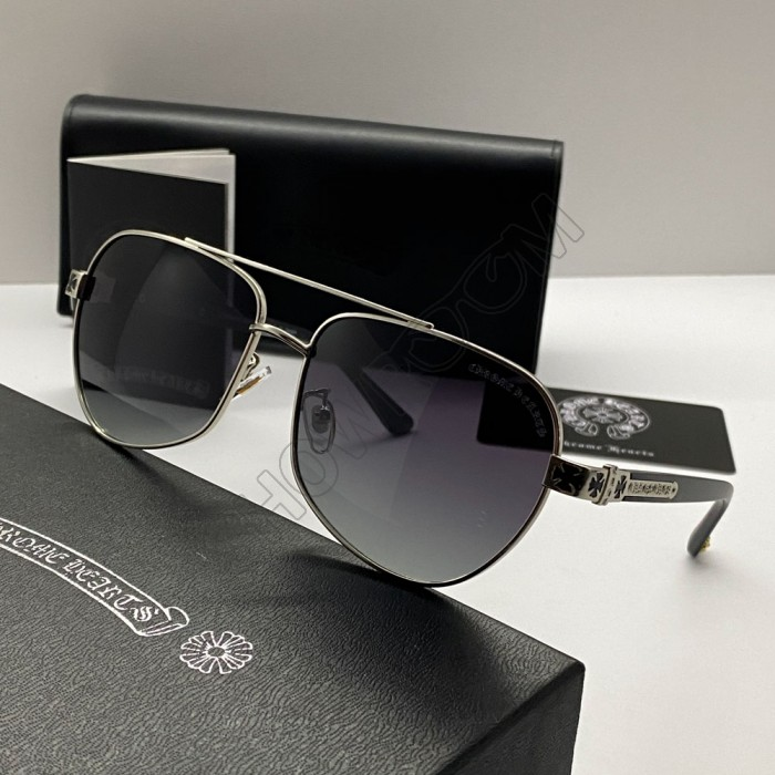 Солнцезащитные мужские очки Chrome Hearts 5078 silver
